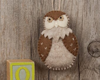 Owl Sewing PATTERN, Felt Ornament Pattern, Owl, Woodland Animal, Forest Friend, PDF Sewing Pattern, Gift Topper, DIY Handmade Gift