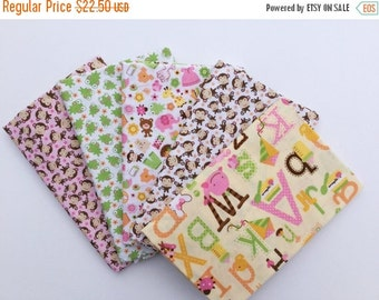 Sale Sweet Baby Girl Fabric Riley Blake HALF Yard Bundle Of 5