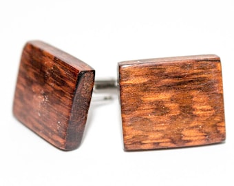 Wooden cuff links tiger wood