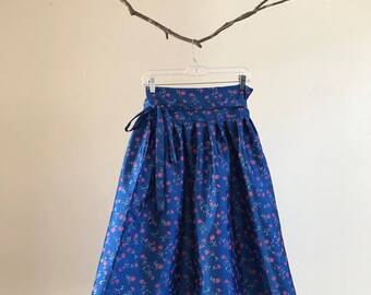 Hanbok Chima Skirt - blue sparkles