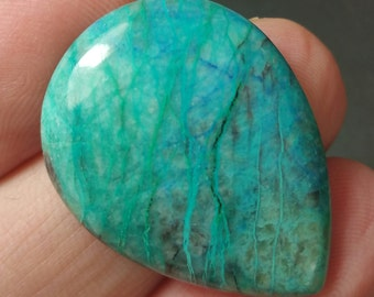 30mm 27ct with video Shattuckite chrysocolla azurite cabochon AAA  30 by 23 by 5mm
