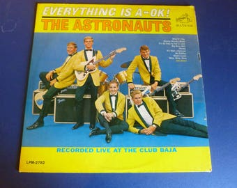 The Astronauts Everything Is A-Ok! Vinyl Record LPM-2782 RCA Victor 1964 Rare