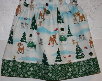 Clearance Christmas Skirt    Size 2 to 8