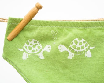 Love Turtles Women's Handmade Underwear - Size 12 - Ready-to-Ship