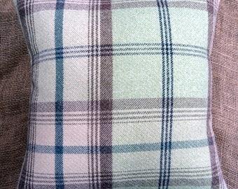 Porter & Stone Sage Balmoral Tartan Check Cushion Cover