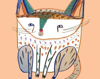 Cutest Cat. Nursery decor, kids art, nursery print, children's wall art, baby nursery art.