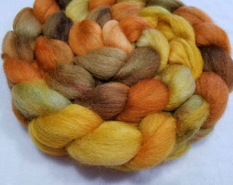 Merino/Baby Alpaca/Silk Roving-50/30/20-Hand Dyed/Painted - 4 oz