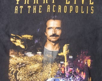 rare Yanni Live at the Acropolis 1995 world tour vintage concert t-shirt XL.  NOTE: shop holiday-ships September 1
