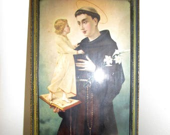 Antique Saint Anthony of Padua Framed Print