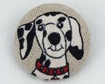 Dalmatian dog fabric brooch,dog brooch,fabric brooch,badge