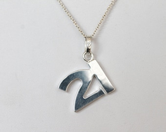 925 Sterling Silver No. 21 Charm Necklace
