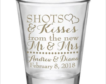 shot glass wedding favor wedding decor ideas