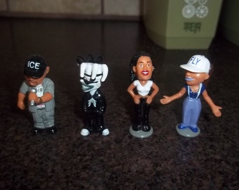 Set of 4 miniature Homies Bobble Heads - Ice Block, Fly Girl, Borriqua, etc