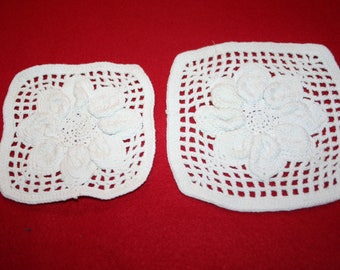 Vintage Hand Crocheted Hot Pads- Lot of 2