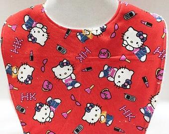 Hello Kitty Baby, Toddler Bib, Baby Bibs, Hello Kitty Shower, Girl Baby Gifts, Handmade Baby, Baby Shower Gift, New Baby Girl Gift