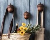 Acorn Wall Hanger, Wood Wall Hook, Kitchen Wall Hook, Stocking Stuffer, Hostess Gift, Kitchen Wall Decor