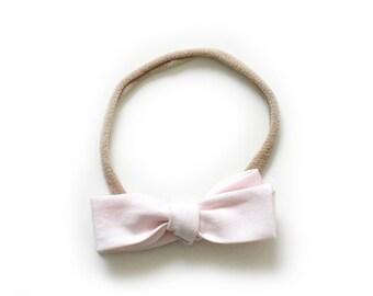 Pink Bow - Hand Tied Bow Headband - Kids Headband