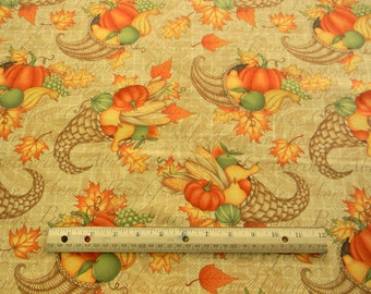 Great Harvest Cornucopias cotton quilting fabric by Debbie Mumm for South Sea Imports