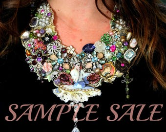 Sample Sale .. Ballerina .. Compilation Statement Necklace .. Ballet Jewelry . One-Of-A-Kind Necklace .. Vintage Jewelry .. Sample Sale