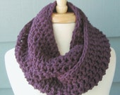 WINTER SALE / Chunky Infinity Scarf .. Jackie 7x55 .. Made to Order