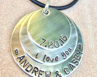 Men's Necklace, Boyfriend Necklace, Husband Necklace, Gifts For Him, father necklace, dad necklace, gifts for dad,natashaaloha