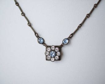 Vintage KENNY MA San Francisco Rhinestone Necklace