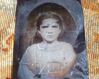 Man She Was Hungry Antique Full Plate Tintype Photo