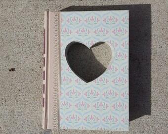 Upcycled Book Decor - Heart Love