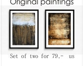 Art Painting set of two  Wall Art  wunderful Wall Decor nice Acrylic Painting Gift Ideas Abstract Painting