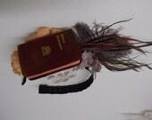 Miniature Book Headband: Brown