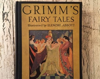 Vintage Grimms' Fairy Tales, 1942 - Illustrated by Eleanor Abbott - Beautiful Color Plates