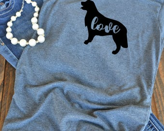 Golden Retriever love graphic t-shirt -  woman's graphic t-shirt - dog mom