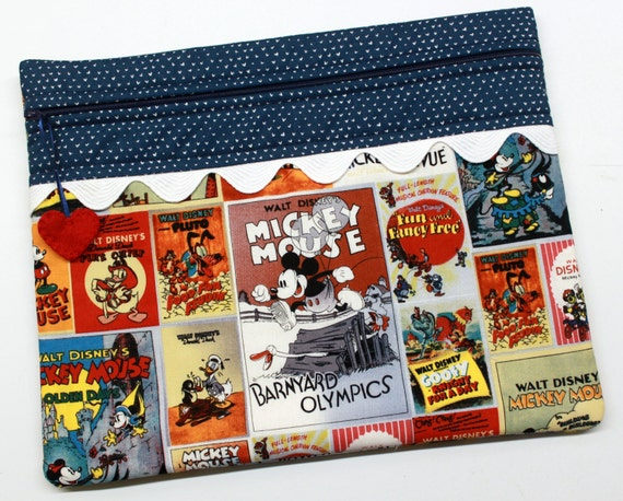 Mickey and Friends Vintage Posters Cross Stitch Embroidery Project Bag