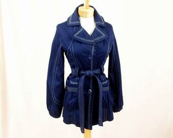 Christian Dior Jacket * White and Navy Blue Jacket * Nautical Jacket * Womens Lightweight Jacket * Spring Jacket * Designer Jacket * Med