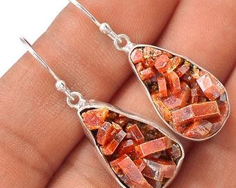 50% Off JUNE SALE Spectacular Gemmy Vanadinite Matraix Dangle Earrings  0599