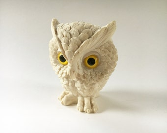 70s Owl Figurine Kitsch Decor