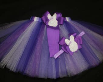 Pretty in Purple Easter tutu set, custom made up to a size 4t