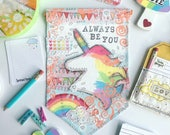 Canvas banner ~ Always be you unicorn head ~ canvas art wall hanging decor