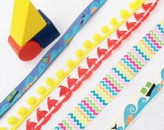 ocean wave ribbon collection