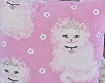 Pink Princess Kitty Cat Travel Baby Toddler Pillow Small Day Care Nap