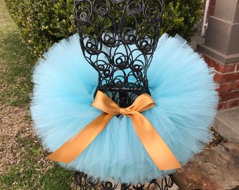 Tutus Aqua Tutu with a gold ribbon, Newborn Tutu, Baby Tutu, Tutus for children, 1st birthday tutus, birthday tutu, Cake Smash Tutus