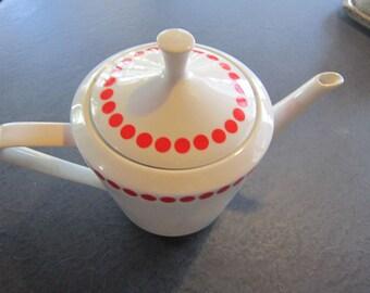 polka dot teapot from hungary adorable teapot vintage teapots
