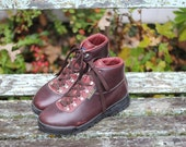Reserved for Beth- her lovely Vasque Sundowner Hiking Boots - Made in Italy, late 90s - Waterproof - Size 8.5 Medium - Check Measurements