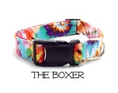 Tie Dyed Dog Collar, The Boxer, Hippie Dog Collar, Colorful Collar, Dog Gift,  Plastic Buckle Collar, Tie Dye, Matching Leash Available