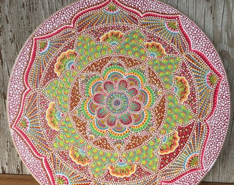 Mandala Painting | 15 inch diameter | Wall Art | Home Decor | Acrylic | Pointillism | Dot Art | One of a Kind