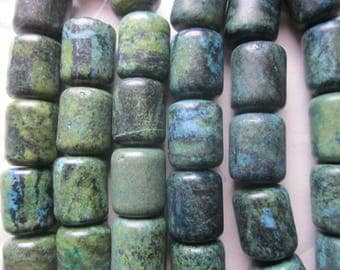 Large Chunky Yellow Turquoise Beads 24x20mm 8 Beads