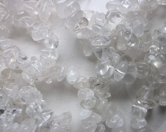 Clear Quartz Crystal Chip Beads 7-14mm 30 Beads