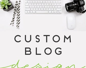 Custom Wordpress Blog Design with Matching Facebook Cover and Profile Image