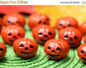 FLASH SALE 3 Vintage Too Cute Miniature Jack-O-Lanterns