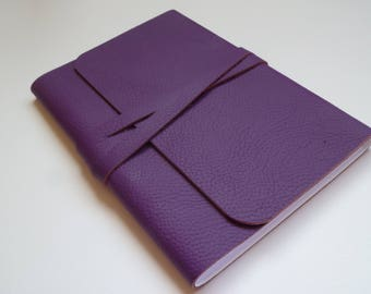 Leather Journal Leather Notebook Travel Journal Leather Book. Purple Leather with a Lovely Grain. Perfect for that Purple Loving Person!
